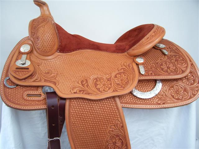 Used Saddle:16inch Duane Latimer Reiner- Image Number:0