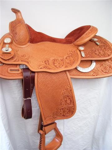 Used Saddle:16inch Duane Latimer Reiner- Image Number:1