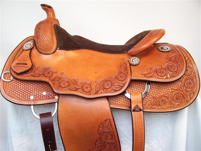 Used Saddle:15.5inch Bob's Custom Saddles :inchDLinch reiner- Image Number:0
