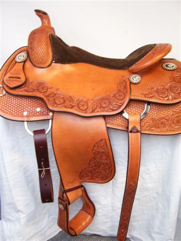 Used Saddle:15.5inch Bob's Custom Saddles :inchDLinch reiner- Image Number:1