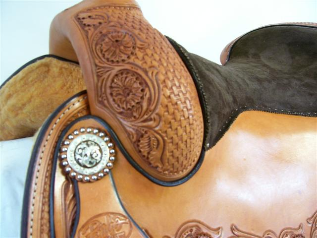 Used Saddle:15.5inch Bob's Custom Saddles :inchDLinch reiner- Image Number:2