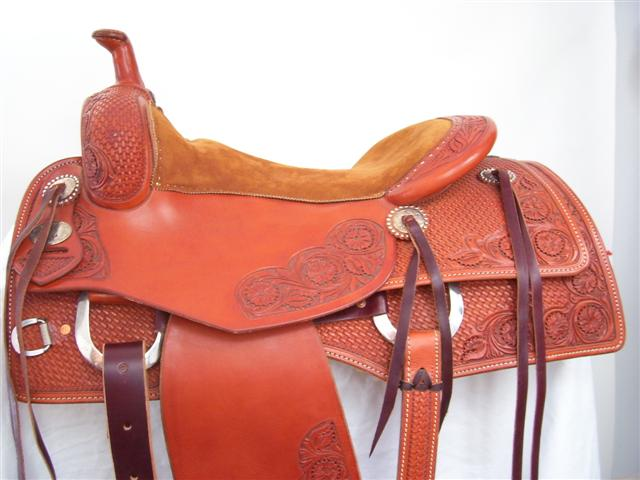 Used Saddle:16inch Bob's Square Skirt Cowhorse/All-Around- Image Number:0