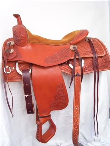 Used Saddle:16inch Bob's Square Skirt Cowhorse/All-Around- Image Number:1