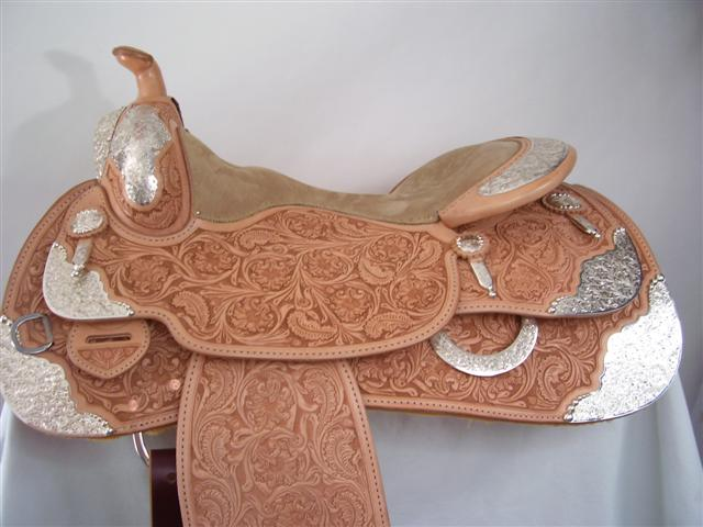 Used Saddle:Bob's Full Silver  Show Saddle!- Image Number:2