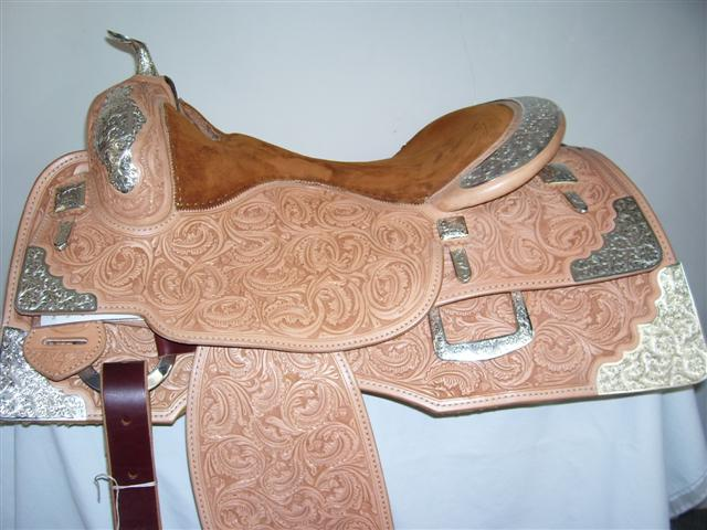 Used Saddle:Bob's Full Silver  Show Saddle!- Image Number:1