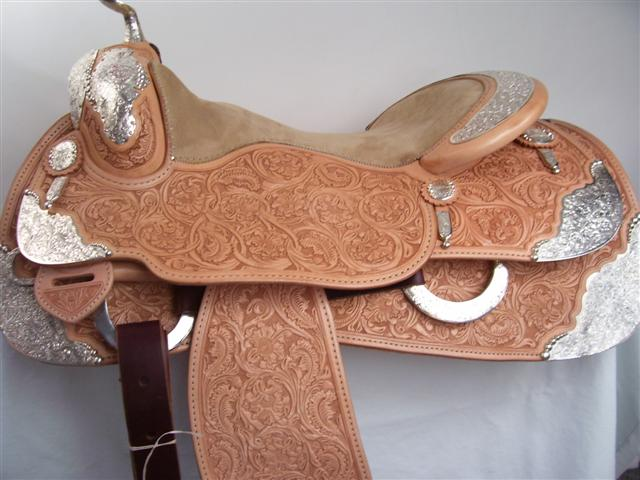 Used Saddle:Bob's Full Silver  Show Saddle!- Image Number:0