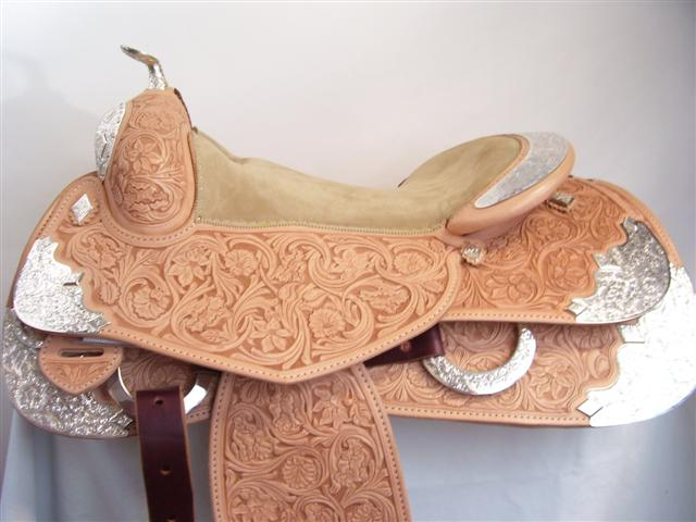 Used Saddle:Bob's Full Silver  Show Saddle!- Image Number:3