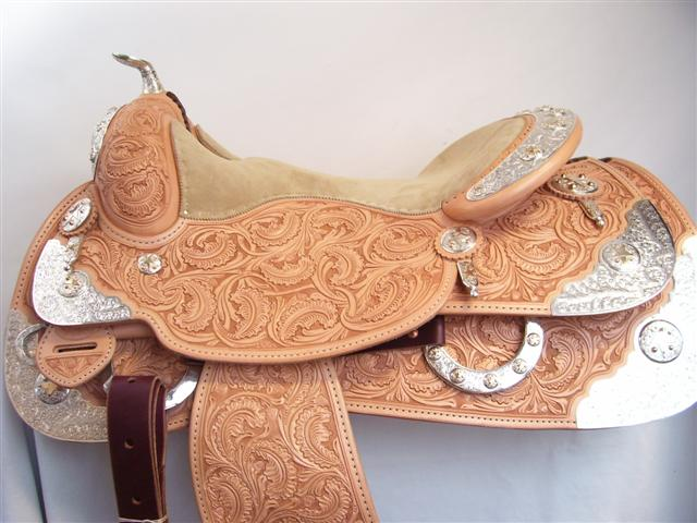 Used Saddle:Bob's Full Silver  Show Saddle!- Image Number:4
