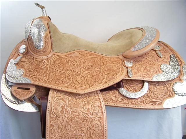 Used Saddle:Bob's Full Silver  Show Saddle!- Image Number:5
