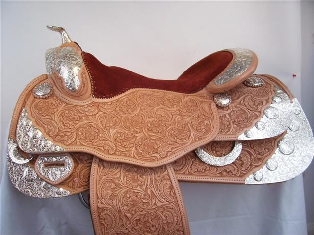 Used Saddle:Bob's Full Silver  Show Saddle!- Image Number:6