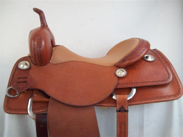 Used Saddle:New Bob's 16inch  Oxbow Cutter- Image Number:2