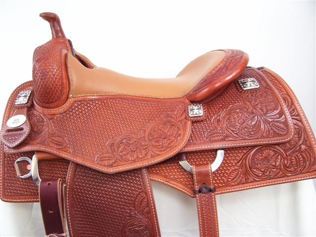 Used Saddle:16inch Bob Avila Square Skirt Cowhorse by Bob's Custom Saddles- Image Number:0
