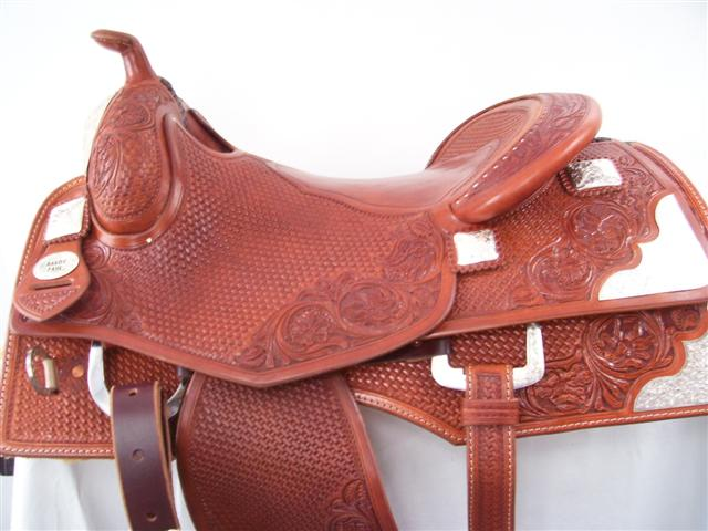 Used Saddle:Randy Paul Hard Seat Show Reiner 16inch- Image Number:0