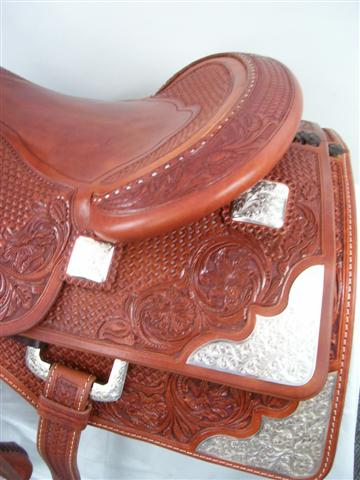 Used Saddle:Randy Paul Hard Seat Show Reiner 16inch- Image Number:1