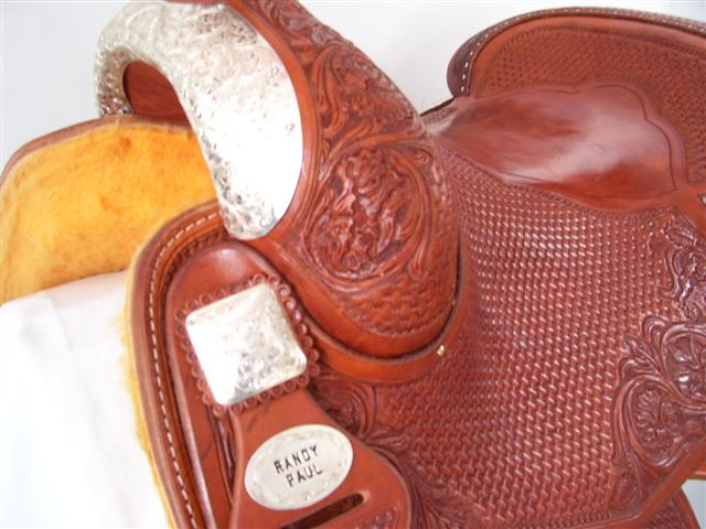 Used Saddle:Randy Paul Hard Seat Show Reiner 16inch- Image Number:2