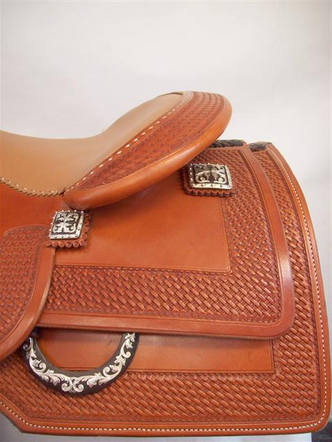 Used Saddle:Bob's Custom Saddle Jordan Larson Square Skrit Reiner- Image Number:2