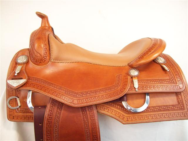 Used Saddle:Bob's Custom Square Skirt Reiner-15 1/2-17inch- Image Number:0