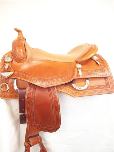 Used Saddle:Bob's Custom Square Skirt Reiner-15 1/2-17inch- Image Number:1